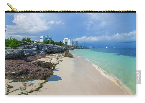 White Sandy Beach Of Cancun Carry-all Pouch