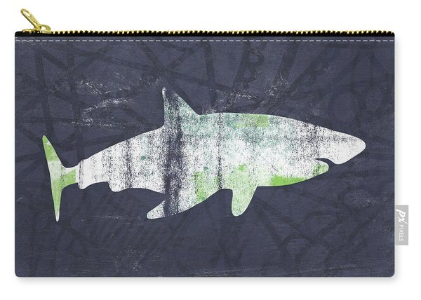White Shark- Art By Linda Woods Carry-all Pouch