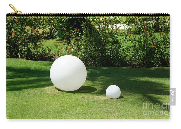 Carry-all Pouch featuring the photograph White Spheres by Jimmy Clark