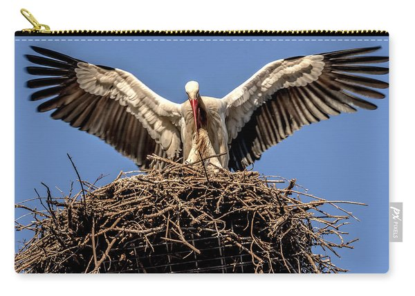 White Storks Of Fagagna 7 Carry-all Pouch