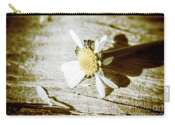 White Summer Daisy Denuded Of Its Petals Carry-all Pouch
