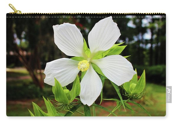White Swamp Hibiscus Carry-all Pouch