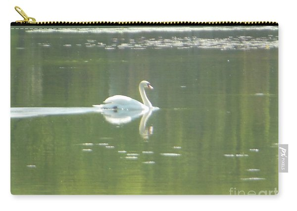 White Swan Silhouette Carry-all Pouch