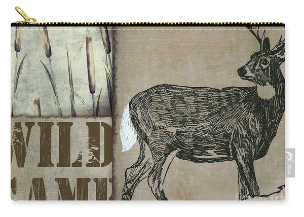 White Tail Deer Wild Game Rustic Cabin Carry-all Pouch