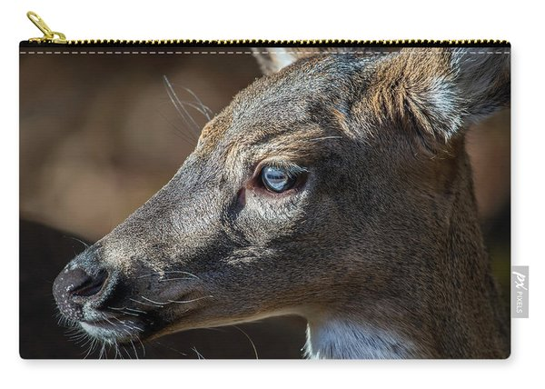 White Tailed Deer Facial Profile Closeup Portrait Carry-all Pouch