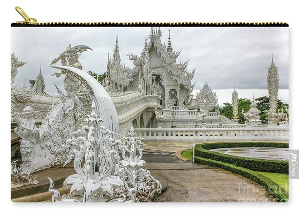 Carry-all Pouch featuring the photograph White Temple Thailand by Benny Marty