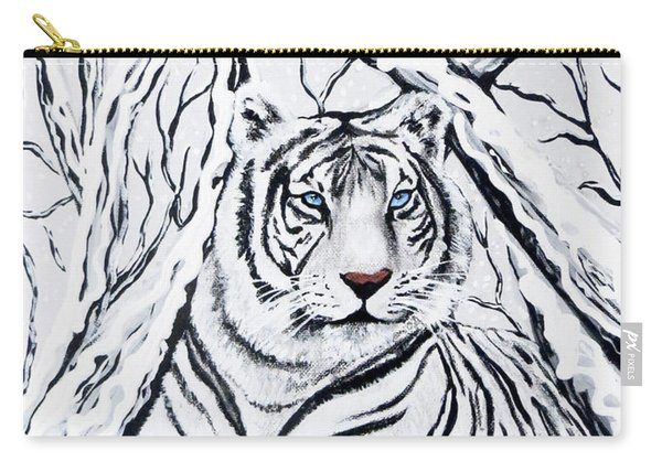 White Tiger Blending In Carry-all Pouch