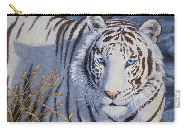 White Tiger - Crystal Eyes Carry-all Pouch