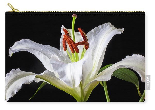 White Tiger Lily Still Life Carry-all Pouch