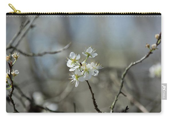 White Tree Bud Carry-all Pouch