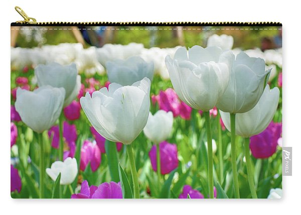 White Tulips 71116 Carry-all Pouch