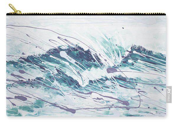 White Wave Abstract Carry-all Pouch