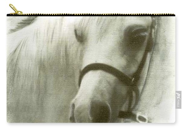 White Welsh Pony Carry-all Pouch
