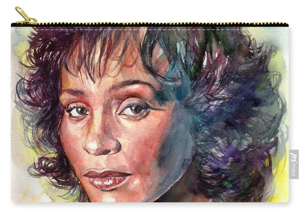 Whitney Houston Portrait Carry-all Pouch