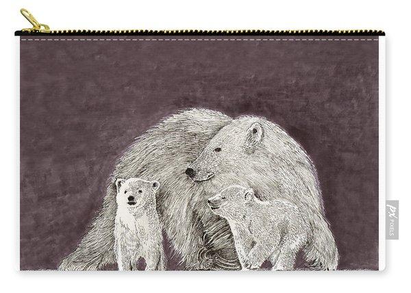 Polar Bear Family Carry-all Pouch