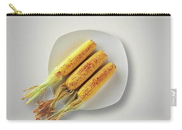 Whole Grilled Corn On A Plate Carry-all Pouch