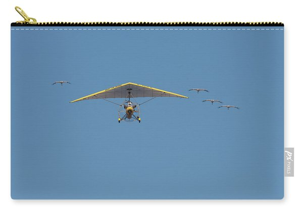 Whooping Cranes And Operation Migration Ultralight Carry-all Pouch