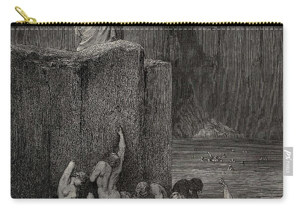 Why Greedily Thus Bendest More On Me Than On These Other Filthy Ones Thy Ken Gustave Dore Carry-all Pouch
