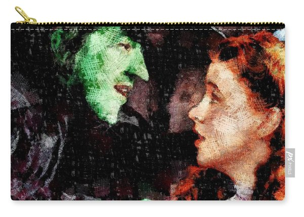 Wicked Witch And Dorothy, Wizard Of Oz Carry-all Pouch