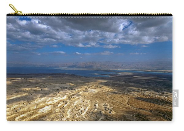 Wide View From Masada Carry-all Pouch