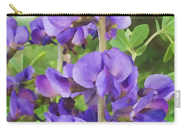 Wild Blue False Indigo Carry-all Pouch