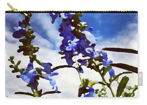 Wild Blue Sage  Carry-all Pouch