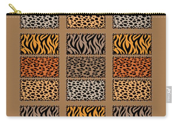Wild Cats Patchwork Carry-all Pouch