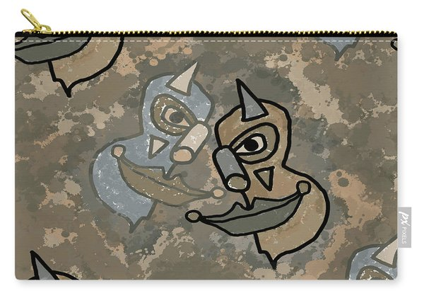 Wild Clown Carry-all Pouch