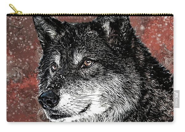 Wild Dark Wolf Carry-all Pouch