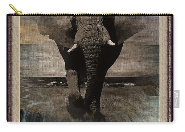 Wild Elephant Montage Carry-all Pouch