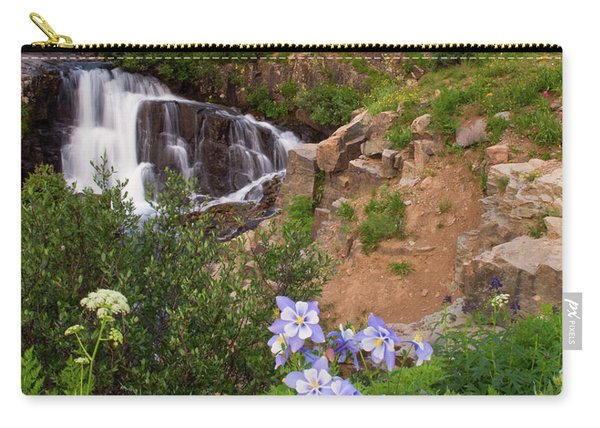 Wild Flowers And Waterfalls Carry-all Pouch
