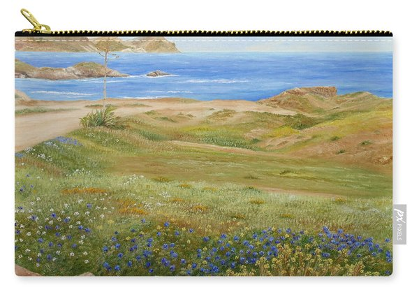 Carry-all Pouch featuring the painting Wild Flowers by Angeles M Pomata