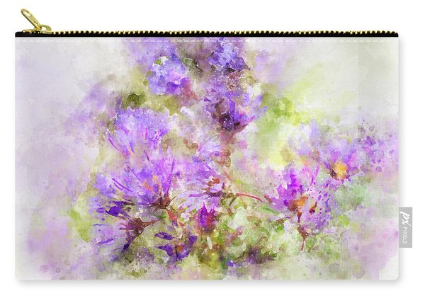 Carry-all Pouch featuring the photograph Wild Flowers In The Fall Watercolor by Michael Colgate