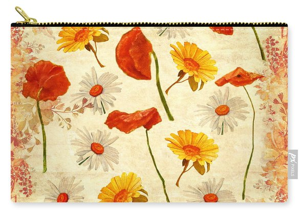 Wild Flowers Vintage Carry-all Pouch