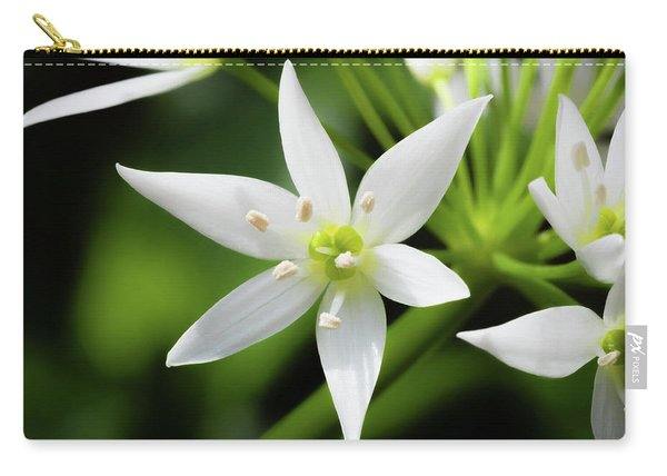 Carry-all Pouch featuring the photograph Wild Garlic Flower by Nick Bywater