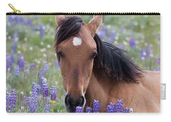 Wild Horse Among Lupines Carry-all Pouch