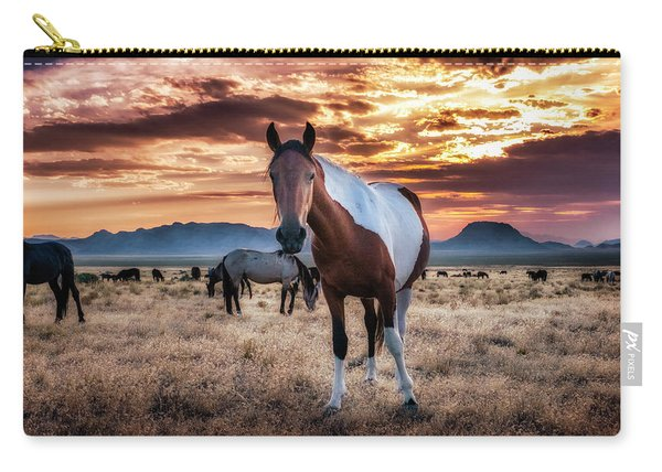 Wild Horses At Sunset Carry-all Pouch