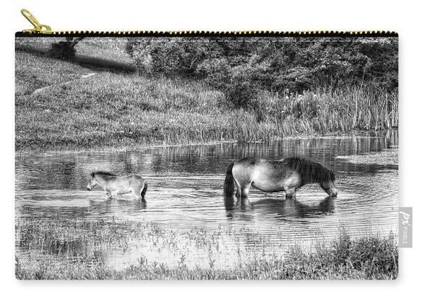 Wild Horses Bw2 Carry-all Pouch