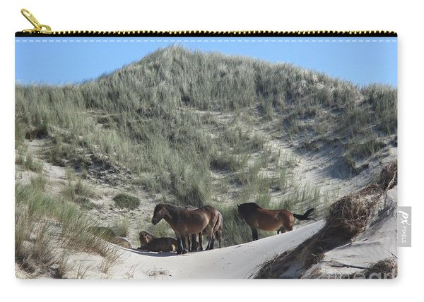 Wild Horses In The Noordhollandse Duinreservaat Carry-all Pouch