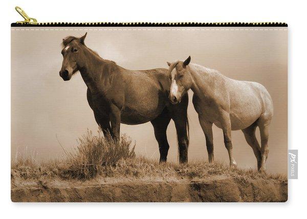 Wild Horses In Western Dakota Carry-all Pouch
