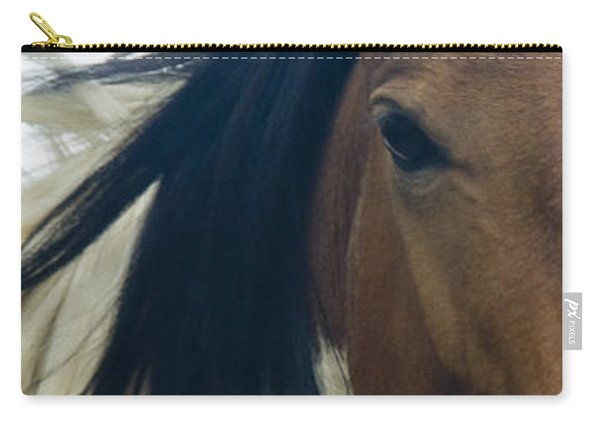 Carry-all Pouch featuring the photograph Wild Horses Of Nevada 1 by Catherine Sobredo