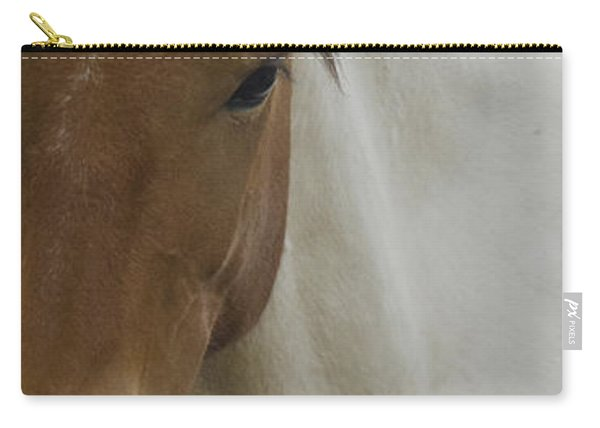Carry-all Pouch featuring the photograph Wild Horses Of Nevada 3 by Catherine Sobredo