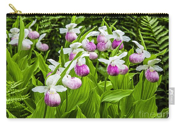 Wild Lady Slipper Flowers Carry-all Pouch
