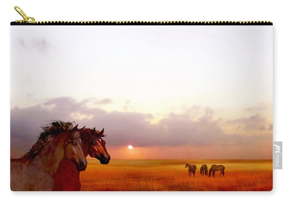 Wild Moorland Ponies Carry-all Pouch