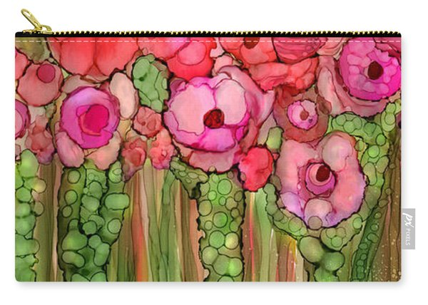 Wild Poppy Garden - Pink Carry-all Pouch