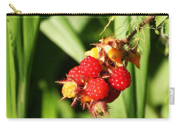 Carry-all Pouch featuring the photograph Wild Raspberries by William Selander
