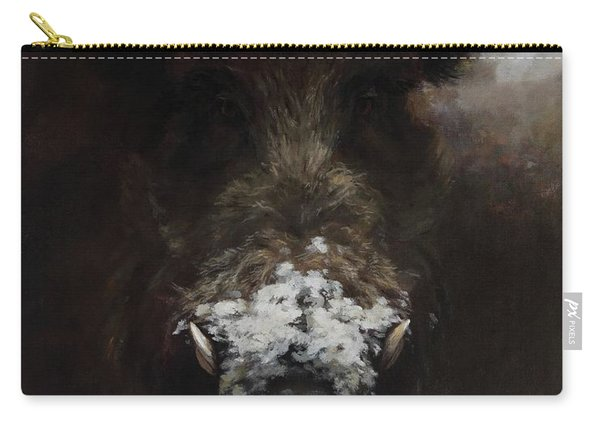 Wildboar With Snowy Snout Carry-all Pouch