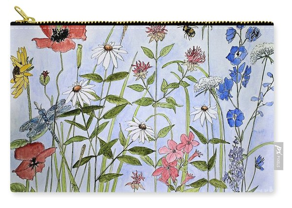 Wildflower And Blue Sky Carry-all Pouch