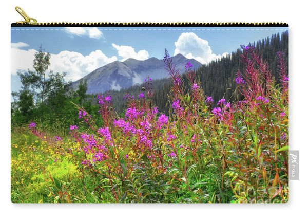 Carry-all Pouch featuring the photograph Wildflower Capital by Susan Warren