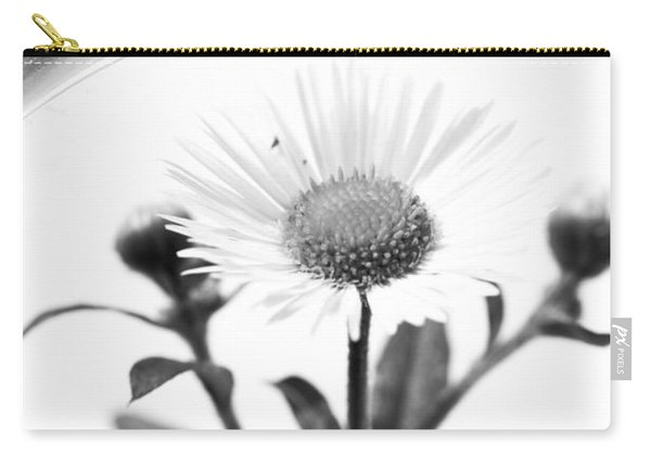 Wildflower In A Wine Glass Black And White Carry-all Pouch